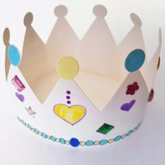 make a royal crown kids craft activity