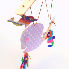 diy wooden mobile kids craft kit