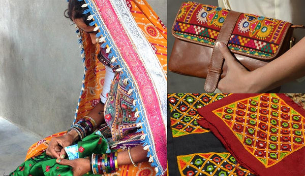 Embroidery artisans in rural India