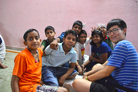 doing activities with underprivileged children