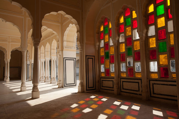 inside Hawa Mahal, in Jaipur
