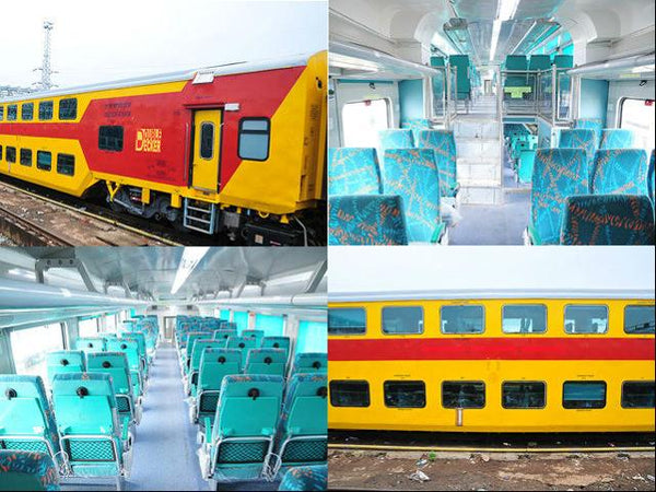 The double decker train from Jaipur to Delhi