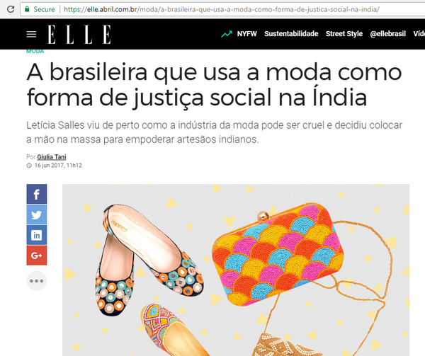 Happee at Elle Brasil
