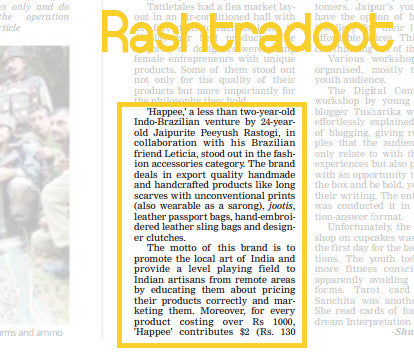 happee coverage at rashtradoot newspaper
