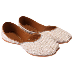 Indian Mojari Shoes Online White