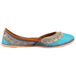 Designer Blue Embroidered Jutti online