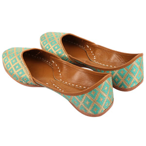 Buy Indian Shoes online Green Juttis