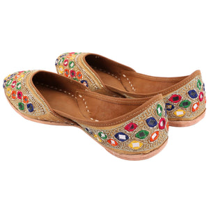 Embroidered Jutti Indian Shoes