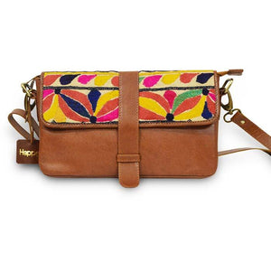 Hand Embroidered Leather Clutch - Rio