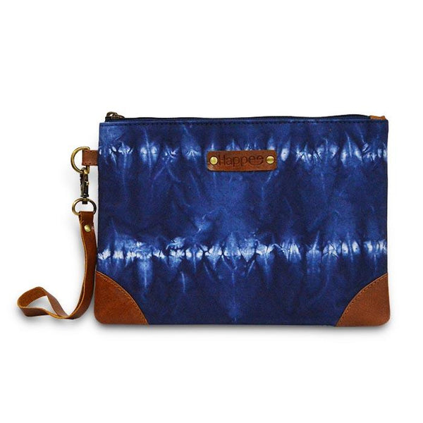 Canvas Shibori Pouch - Blue