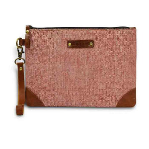 Kala Cotton Pouch - Red