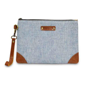 Kala Cotton Pouch - Blue