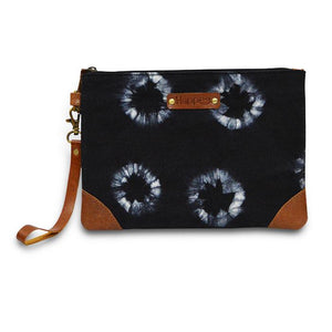 Canvas Tie Dye Pouch - Black