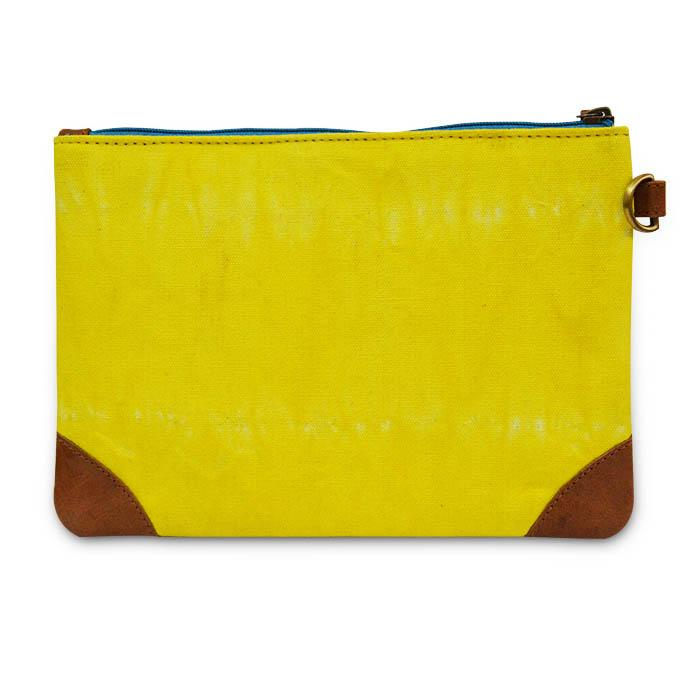 Canvas Shibori Pouch - Yellow