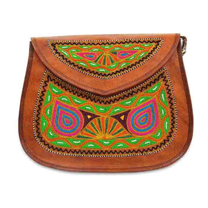 Leather Embroidery Sling bag - Holi