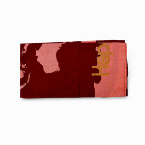 Night World Map Sarong Scarf - Maroon