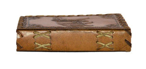 Leather Journal - Side View Light Brown