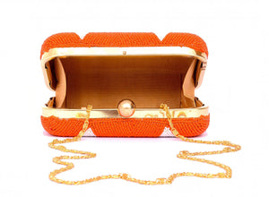 Evening Clutch Bag Orange