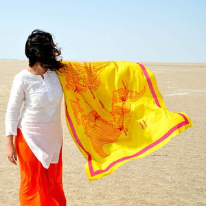 Around the World Sarong Scarf - Yellow