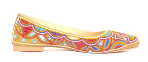 Beaded Ballerina Shoes - Multicolor