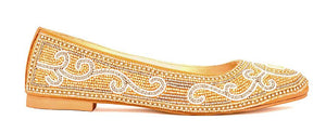 Cinderella Ballerina Shoes - Golden Beads