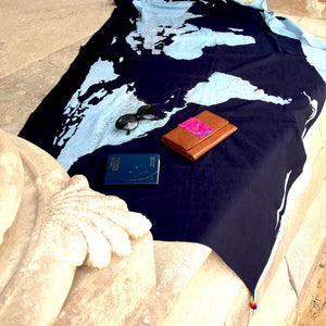 World Map Scarf / Sarong