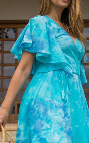 Midi Tie Dye Dress in Organic Cotton