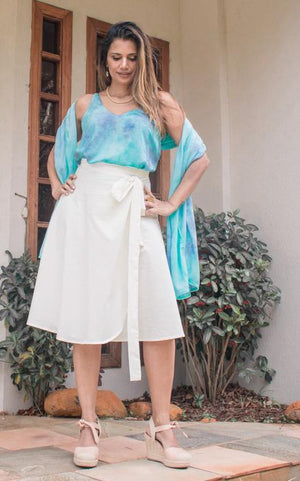 Organic Cotton Wrap Around Skirt