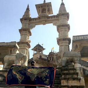 Around the World Sarong Scarf - Blue