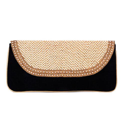 Evening Velvet Clutch Bag Black