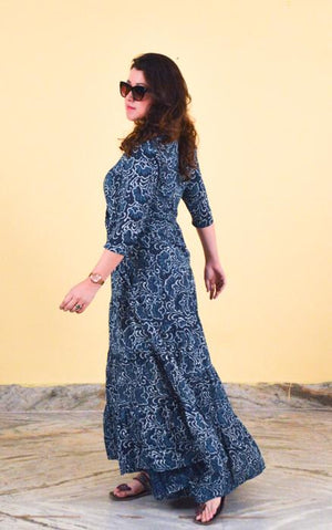 Blockprinting Maxi Dress - Night Flowers