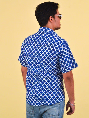 Men's Short Sleeve Shirt - Mughal Blue