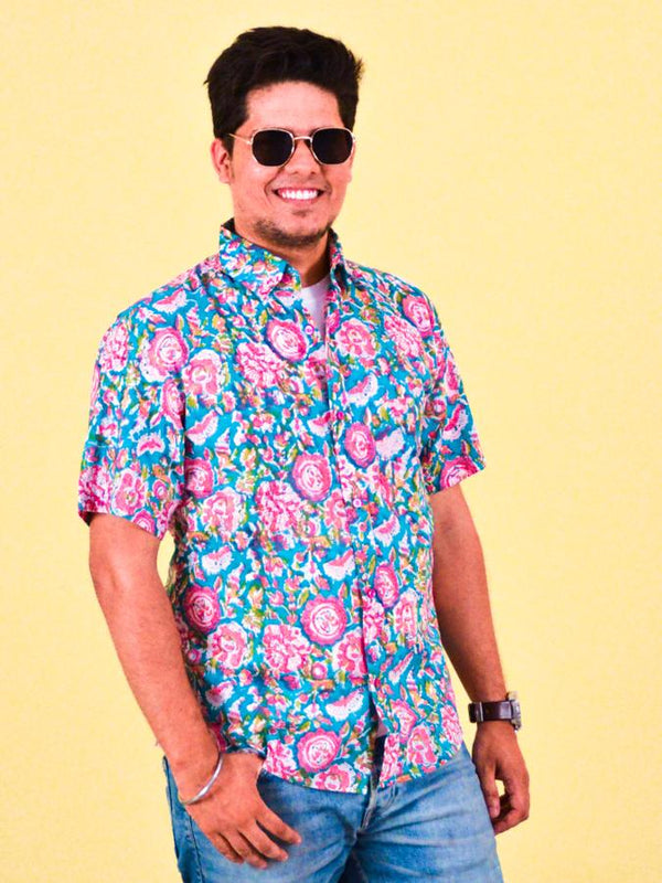 Block print design shirt - Monsoon