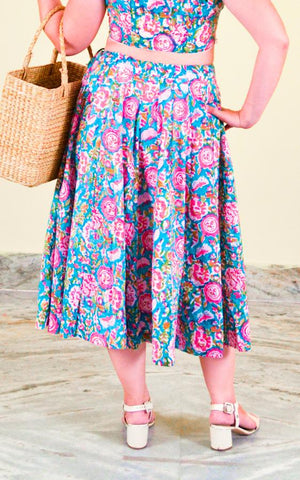 Cotton Midi Lehenga Skirt - Monsoon