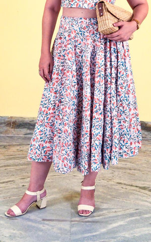 Midi Lehenga Skirt - Breeze
