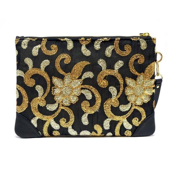 Golden Embroidery Pouch