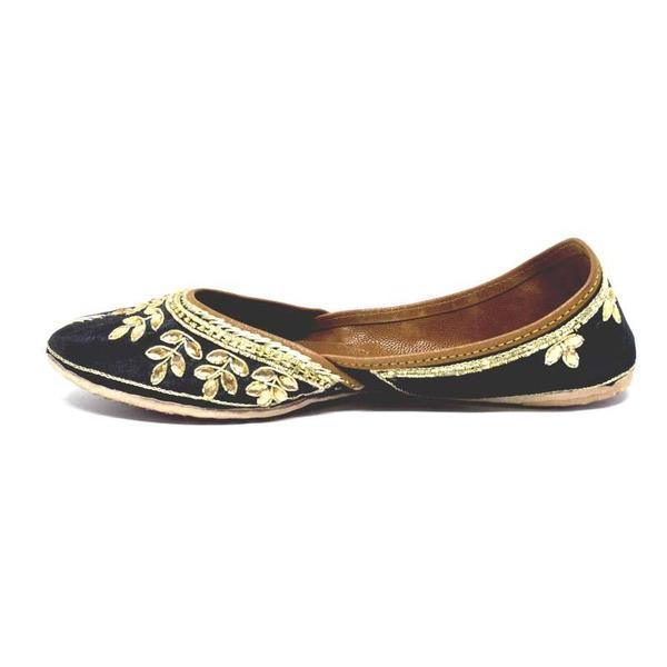 Juttis Swarna Kali ( Black) Patti Embroidery