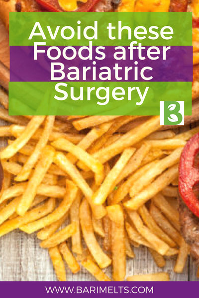 Foods to avoid after bariatric surgery