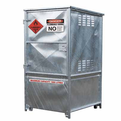 1000L MAXBund-Metal Dangerous Goods Storage #MBDGS-010