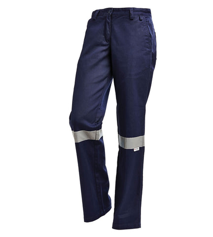 Workit Ladies Drill Pants with Tape #1006T