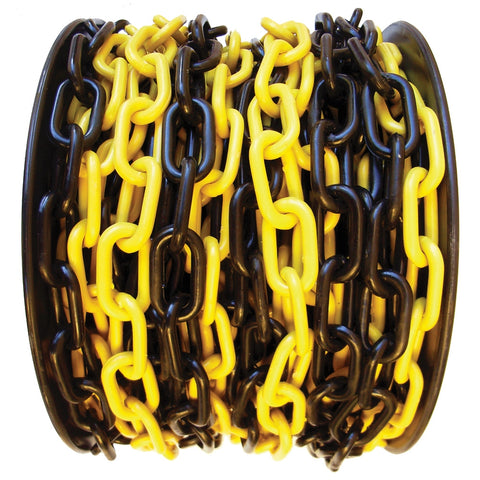 Plastic Safety Chain (Yellow/Black) All Sizes