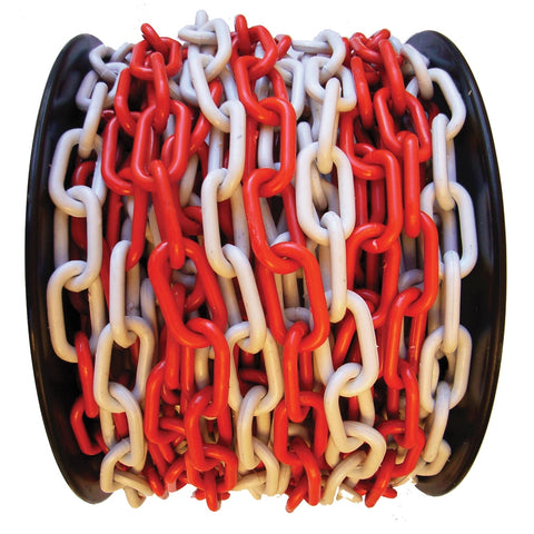 Plastic Safety Chain (Red/White) All Sizes