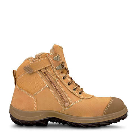 Oliver 34 Series Black or Wheat Zip Sided Safety Boot