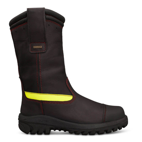 Oliver 66 Series Black 300mm (10inch) Pull On Structural Firefighter Boot #66-396