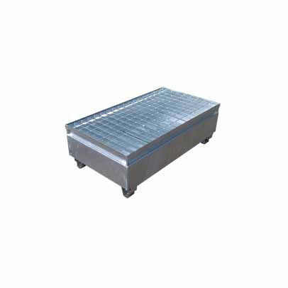 Galvanised Metal 2 Drum Bund