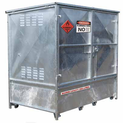2000L MAXBund-Metal Dangerous Goods Storage #MBDGS-020