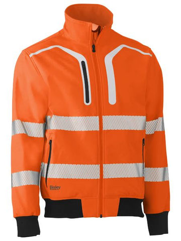 Bisley Hi Vis 2 Taped Soft Shell Bomber Jacket BJ6979T