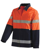 Workit Hi Vis 2 Tone Cotton Drill Jacket c/w 3M Reflective Tape #3001
