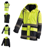Workit Hi Vis 2 Tone 5-In-1 Jacket #3004