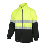 WORKIT HI-VIS 2-TONE FULL ZIP FLEECE JUMPER C/W REFLECTIVE TAPE # 3007T